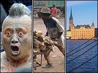 Maori activist; Niger worker; Stockholm