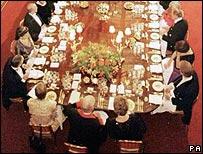 Formal dinner at Windsor