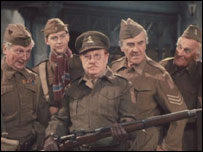 Dads Army cast - Cpt Mainwaring front of pic