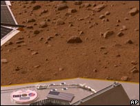 Mars, as seen from the probe
