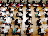 Pupils sit a modern exam