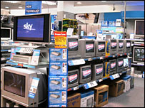 electronic goods in shop