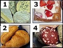 composite of salami etc
