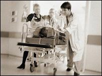 emergency room at hospital