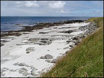 Orkney beach, pic from Undiscovered Scotland