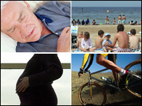 bed rest, beach, pregnancy and bike riding