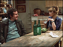 Richard Bryers and Felicity Kendal as Tom and Barbara