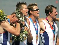 Singing the anthem at 2004 Olympics