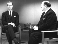 Richard Dimbleby interviewing the Duke of Edinburgh