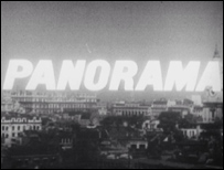Panorama titles showing the London skyline