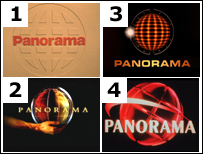Four versions of the Panorama logo
