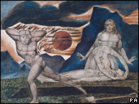 Biblical painting by William Blake