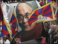 Tibetans protest