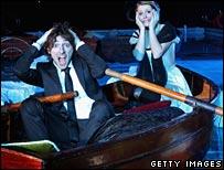 Panic in lifeboat at Titanic screening