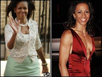 Michelle Obama and Kelly Holmes