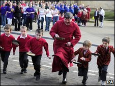 Ripon's pancake races
