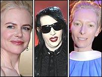 Nicole Kidman, Marilyn Manson and Tilda Swinton
