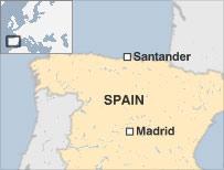 Location map for Santander