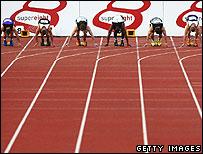 Sprint starting line