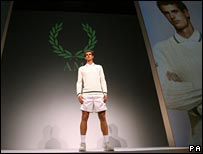 Andy Murray in his new kit