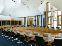 Holyrood committee room (pic by the Scottish Parliament)