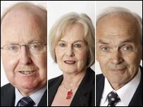 Ross Finnie, Mary Scanlon and John Farquhar Munro