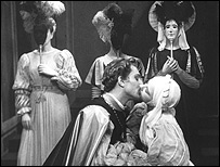 Robert Hardy and Dorothy Tutin as Claudio and Hero in Much Ado About Nothing