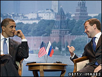 Presidents Obama and Medvedev