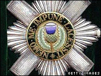 Order of the Thistle badge