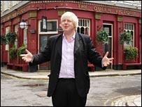 Boris on set