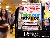 Magazine stand in store