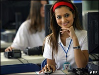 Former Miss England in media studies class