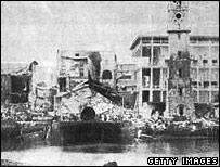 Bombed Zanzibar Palace