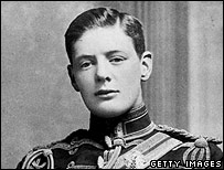 A young Winston Churchill