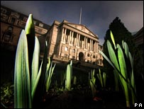 Bank of England, photographed in spring