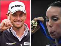 Champions Jenson Button and Beth Tweddle