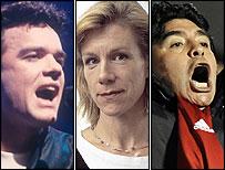 Dennis, Stevenson, Maradona