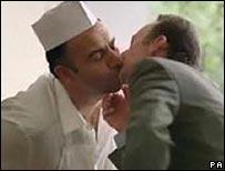 Men kissing in Heinz advert