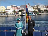 The Queen and her husband in Bermuda