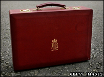 A replica of the Chancellor of the Exchequer's briefcase