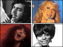 Englerbert Humperdinck, Mariah Carey, Kate Bush and Diana Ross