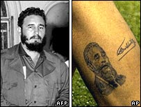 Castro in person and in ink
