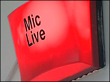 Live red light showing during a broadcast