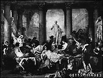 Bacchanalian orgy