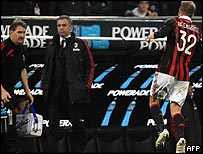 David Beckham hobbling