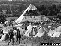 Glastonbury in early days