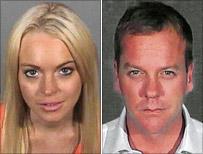 Lindsay Lohan and Kiefer Sutherland