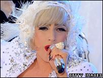 Lady Gaga performs on NBC's