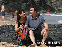 David Cameron on holiday