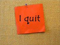 post-it note - I quit